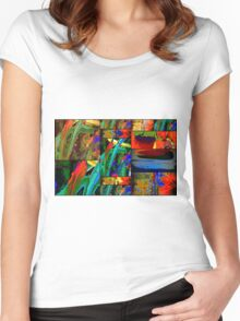 Deep Sea Quilt Women's Fitted Scoop T-Shirt