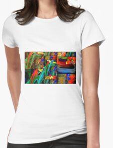Deep Sea Quilt Womens Fitted T-Shirt