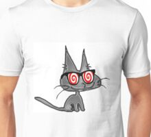 Cat With Hypno Glasses Unisex T-Shirt