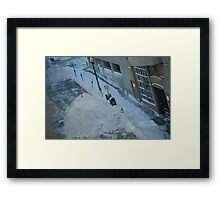 snowstorm sunday Framed Print