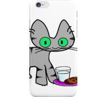 Kitty With Milk And Cookies iPhone Case/Skin