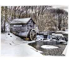 Winter Embraces the Hyde's Mill Dam (Est. 1850) Poster