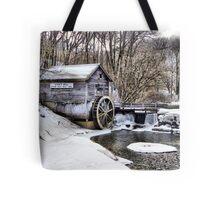 Winter Embraces the Hyde's Mill Dam (Est. 1850) Tote Bag