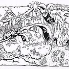 Cartoons for surf mags in the 80's by Warren Haney