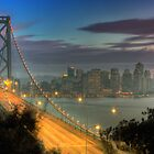 Bay Bridge & San Francisco Cityscape by Vincent James