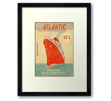 Atlantic Saftey Matches  Framed Print