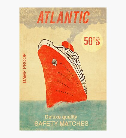 Atlantic Saftey Matches  Photographic Print