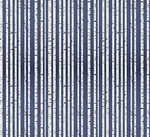Birch wood forest by Richard Laschon