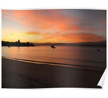 Sunset at Opossum Bay Poster
