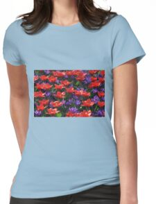 Red and purple Womens Fitted T-Shirt