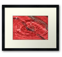 super red water drop Framed Print