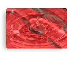 super red water drop Canvas Print