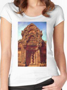 Banteay Srei~ The Citadel of Women Women's Fitted Scoop T-Shirt
