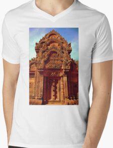 Banteay Srei~ The Citadel of Women Mens V-Neck T-Shirt