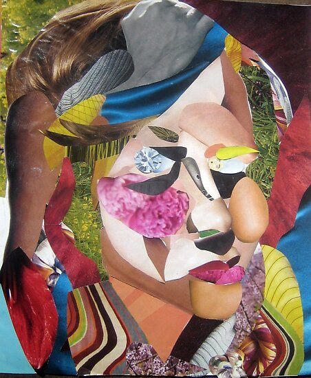 Self-portrait (collage) by greenpalindrome