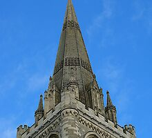 Spire of Chichester Cathedral by Yvonne Falk Ponsford