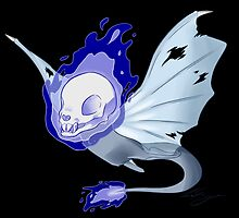 Skeleton Ghost Bat by claire-fairy