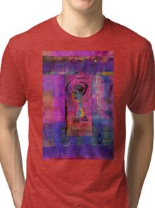 Lady in Blue Tri-blend T-Shirt