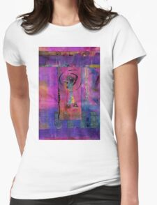 Lady in Blue Womens Fitted T-Shirt