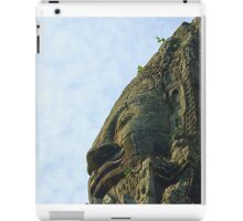 One of the 4 faces of a bayon tower iPad Case/Skin