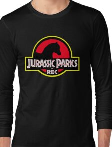 Jurassic Parks and Rec Clean Long Sleeve T-Shirt