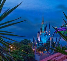 Cinderella Castle and The Land of Tomorrow by jjacobs2286