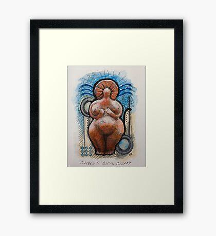 Little Fat Goddess Framed Print