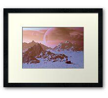 Mineral survey on an alien moon.   Framed Print