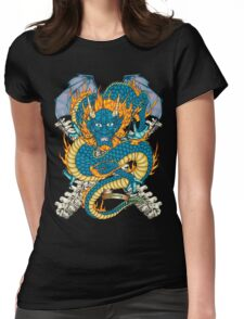 Chinese Dragon Tattoo Flash T-shirt Womens Fitted T-Shirt