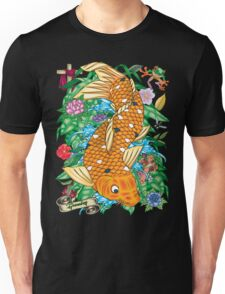 81-Koi Tattoo Flash T-shirt Unisex T-Shirt