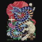 82-Snake Tattoo Flash T-Shirt by bear77