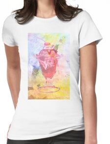 Summer Sundae Mixed media Womens Fitted T-Shirt