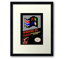 NES Windows95 Framed Print