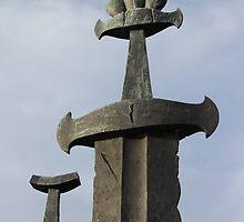 Swords in Rock by Harald Ole Hansen