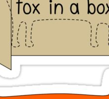 Fox in a Box Sticker