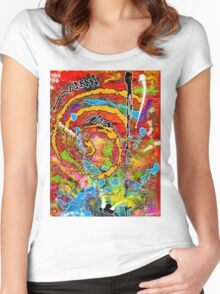 Red Wine and Jazz on a Snowy Night Women's Fitted Scoop T-Shirt