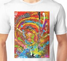 Red Wine and Jazz on a Snowy Night Unisex T-Shirt