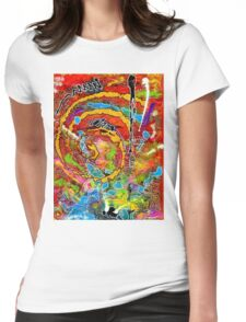 Red Wine and Jazz on a Snowy Night Womens Fitted T-Shirt