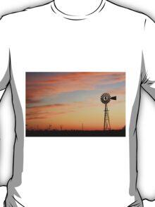 Orange Sky Windmill Silhouette T-Shirt