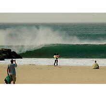 Epic 56th Street Newport Beach Fire Swell Photographic Print