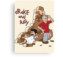 Drake and Sully Canvas Print