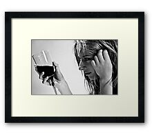 in the grip Framed Print
