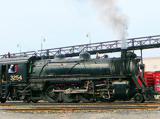 3254 Steam Locomotive by Susan Savad