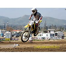 Over my head!  Rider #715;Perris MX, Perris, CA USA Photographic Print