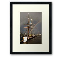 A Rainbow in the Rigging Framed Print