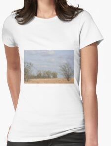 Kansas Colorful Countryside Womens Fitted T-Shirt