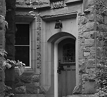Hidden Entry - Gray Tones - Royal Roads University by Lorraine Brown
