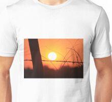 Bright Orange  Fence Line Sunset Unisex T-Shirt
