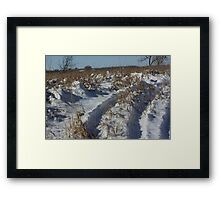 Track's in the Snow in Kansas Framed Print