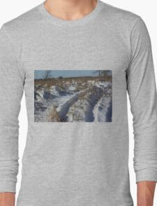 Track's in the Snow in Kansas Long Sleeve T-Shirt
